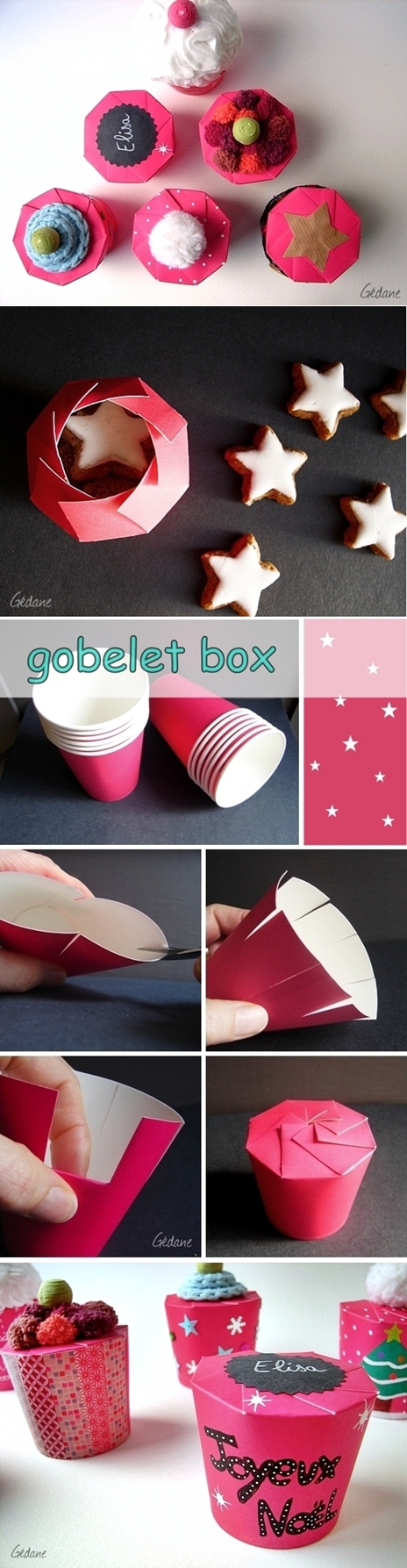 DIY paper cup gift box - how to fold a paper cup into gift box tutorial