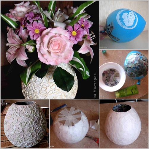 How to diy vase from recycled paper for Homemade recycling projects