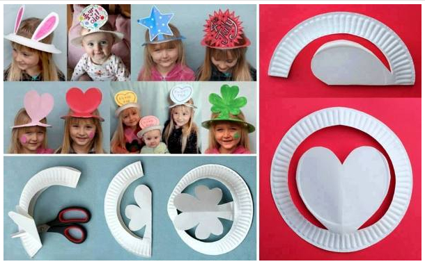 How to diy plastic plates party hats for How to make arts and crafts at home