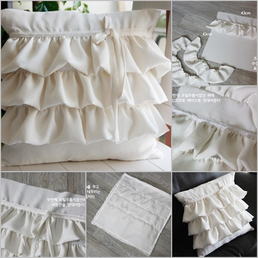 How To Make A Throw Pillow With Ruffle : DIY Ruffled Pillow Case - Fab Art DIY