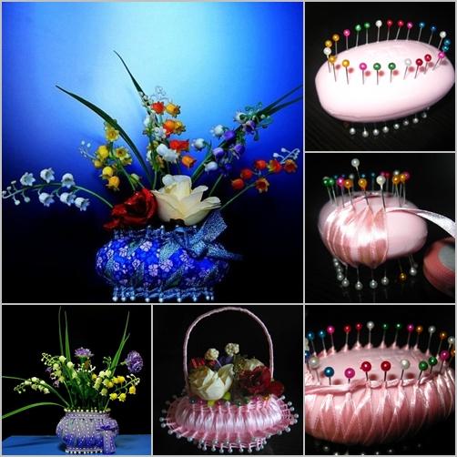Fab Art DIY Ribbon and Soap Flower Basket