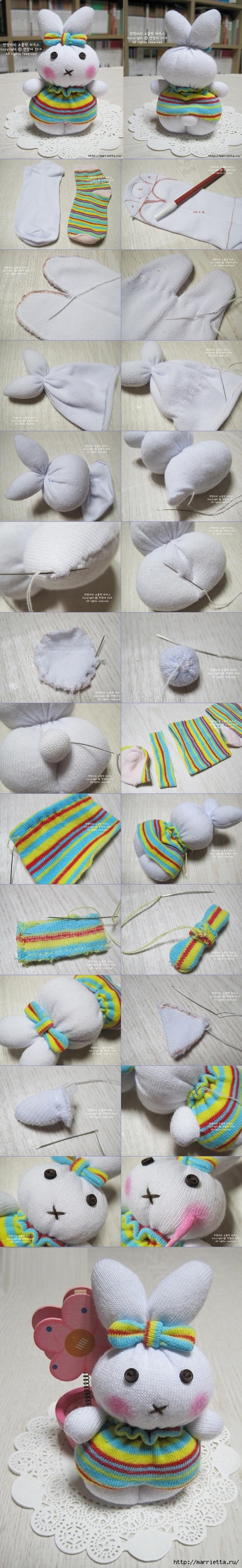 sock bunny TUTORIAL