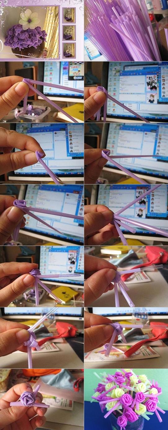 straw rose tutorial