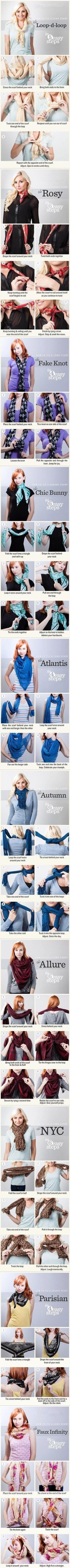 tie long scarf tutorial
