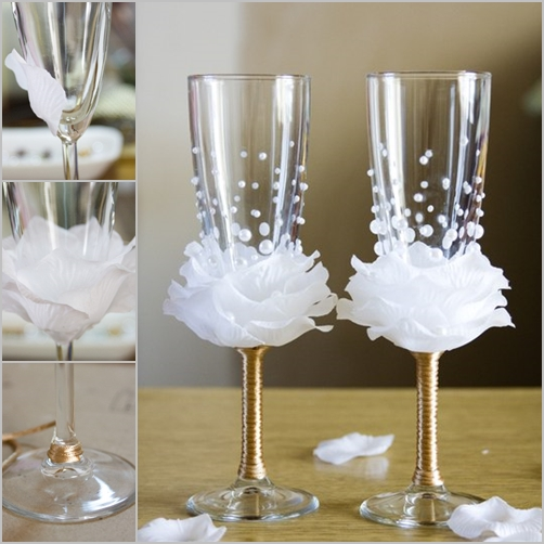 wine glass decor feature
