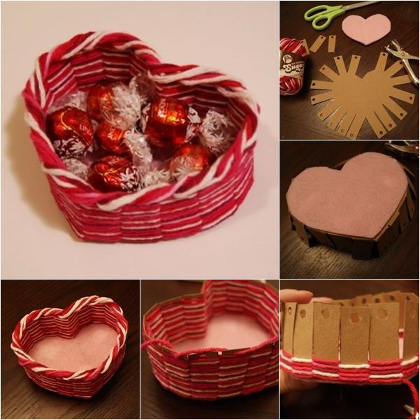 yarn heart basket f