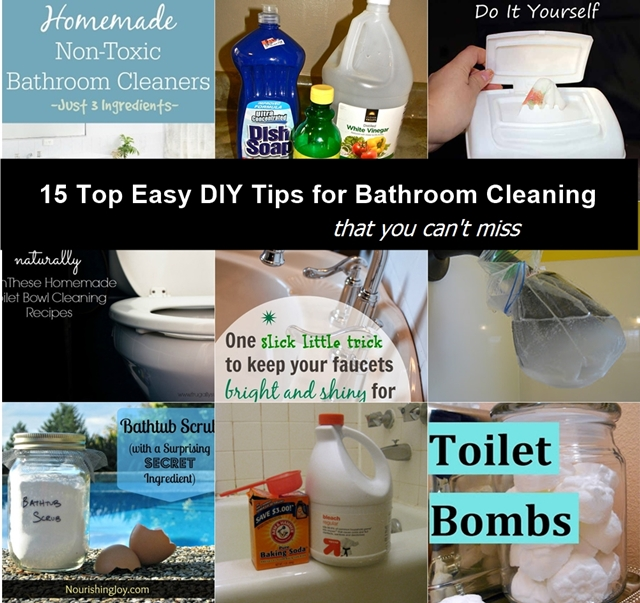 15 Top Easy DIY Tips For Bathroom Cleaning Fab Art DIY