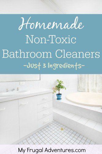 Homemade Non-toxic Bathroom Cleaner