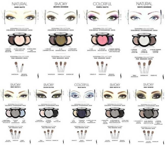 9 sephora makeup templates of eyeshadow fab art diy