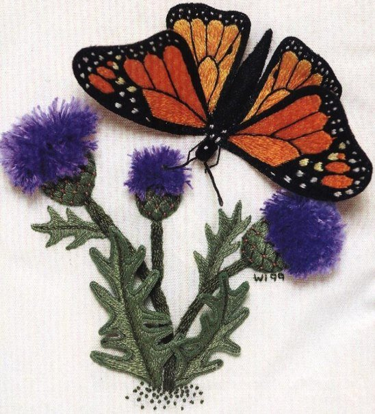 DIY-Beautiful-Thread-Embroidery-Butterfly-on-Dandelion0.jpg