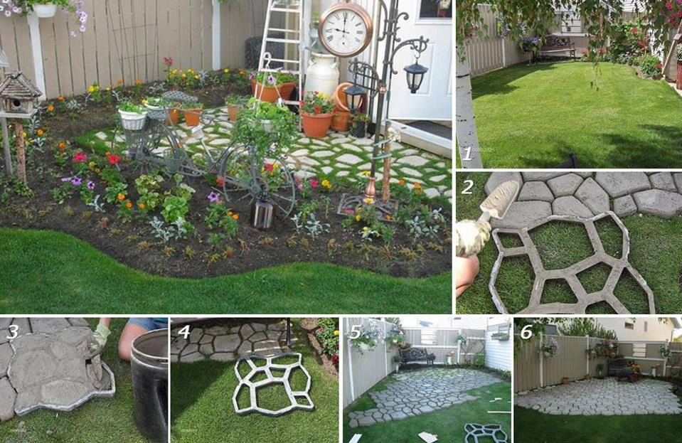 DIY Concrete Cobblestone Path Tutorial