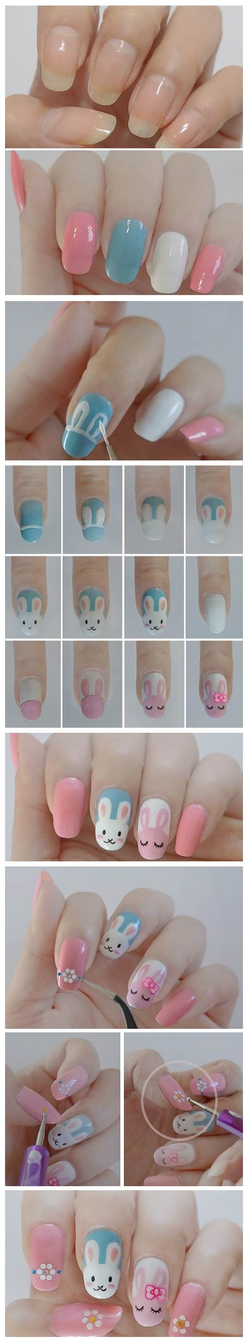 DIY-Easter-bunny-nail-polish-manicure-design