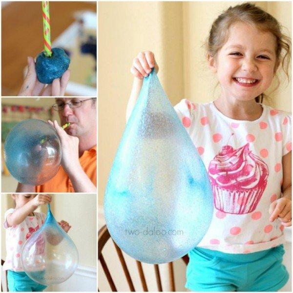 DIY Giant Reusable Bubbles tutorial for Kids Outdoor Fun
