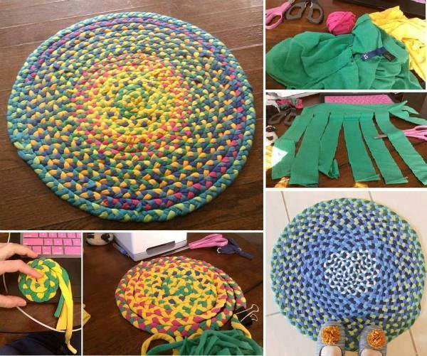 How To Make A Braided T Shirt Rug