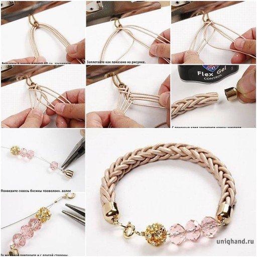 DIY Cute Interwoven Cord Bracelet