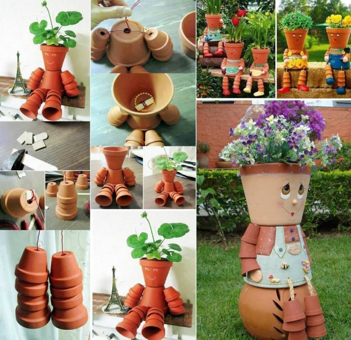 20+ Terra Cotta Clay Pot DIY Project for Your Garden - How to DIY Clay Pot Planter People tutorial