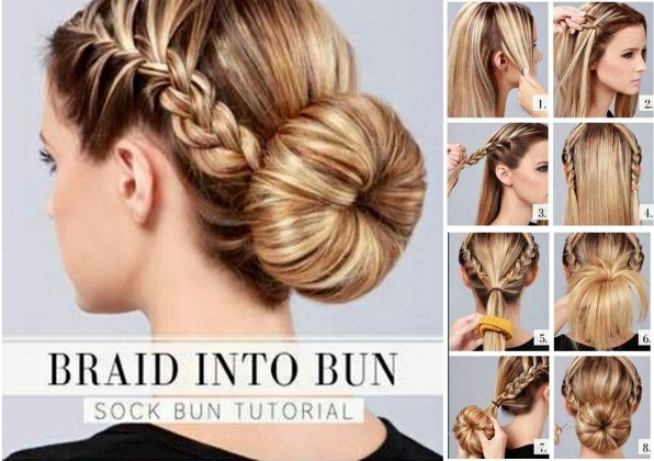 Stupendous How To Make A Donut Bun With Braiding Hair Braids Hairstyles For Women Draintrainus