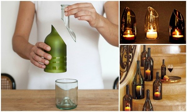 How to cut wine bottle with string and nail polish remover for Simple way to cut glass bottles