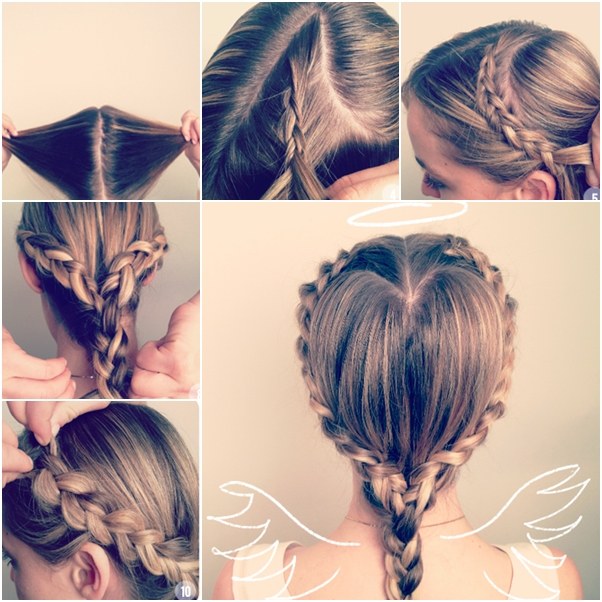 Heart Shaped Braided Hairstyle Tutorial