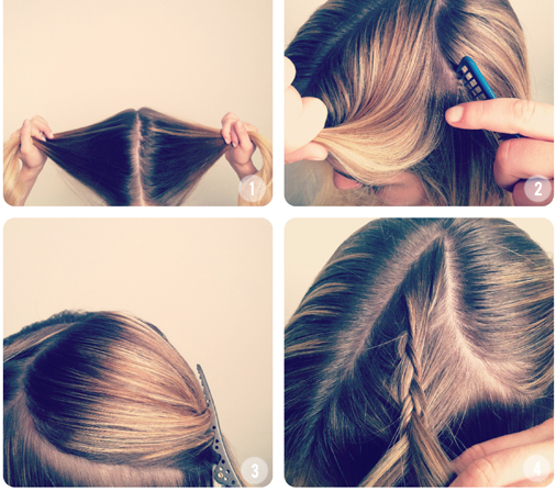 How to make Heart Shaped Braided Hairstyle02