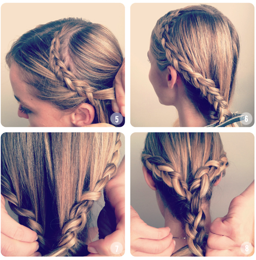 How to make Heart Shaped Braided Hairstyle03