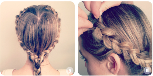 How to make Heart Shaped Braided Hairstyle04