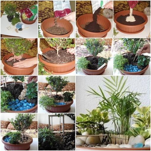Diy in house potted mini garden fab art diy for Home decorations to make