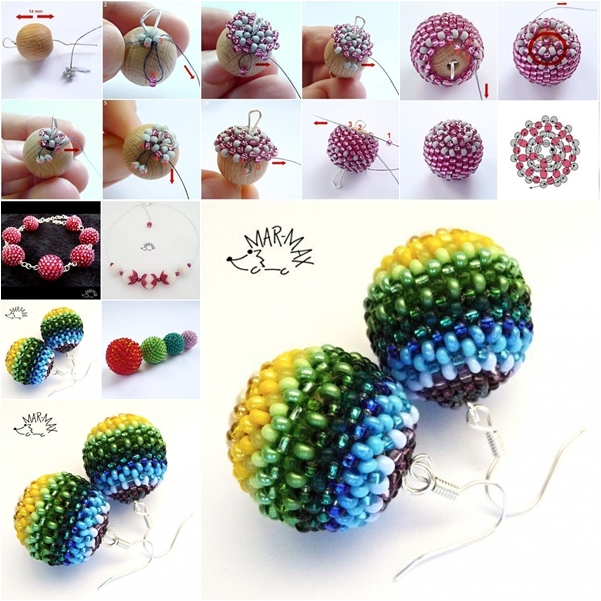 bead ball earring f