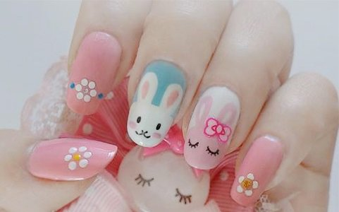 How To Diy Cute Easter Bunny Nail Polish Manicure Design