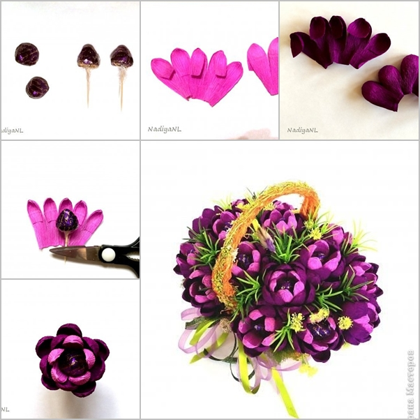 DIY Beautiful Chocolate Flower Bouquet - Fab Art DIY