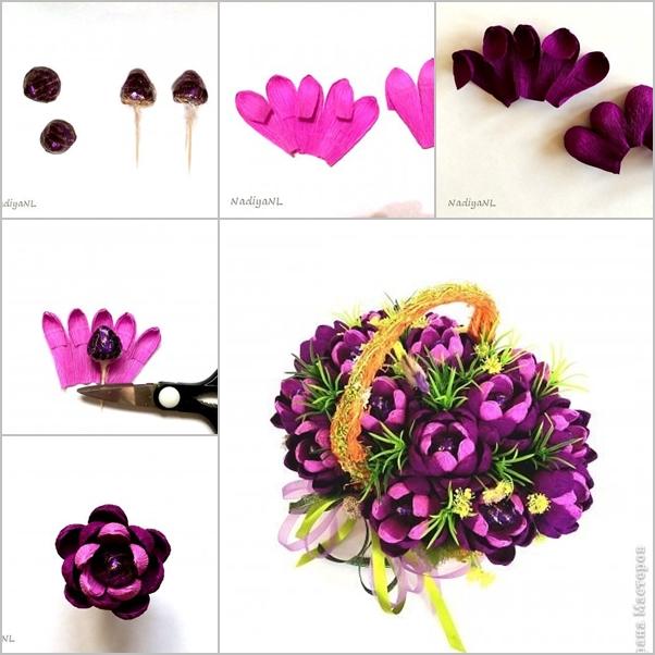 DIY Beautiful Chocolate Flower Bouquet - Fab Art DIY
