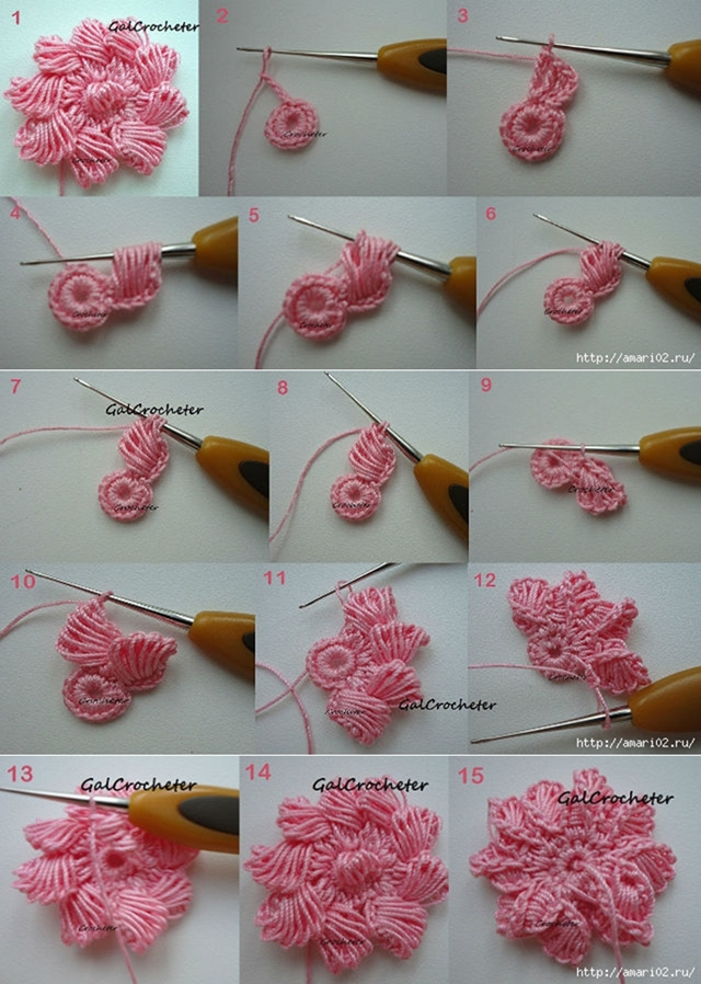 Crochet Tutorial : Crochet Flower Tutorial