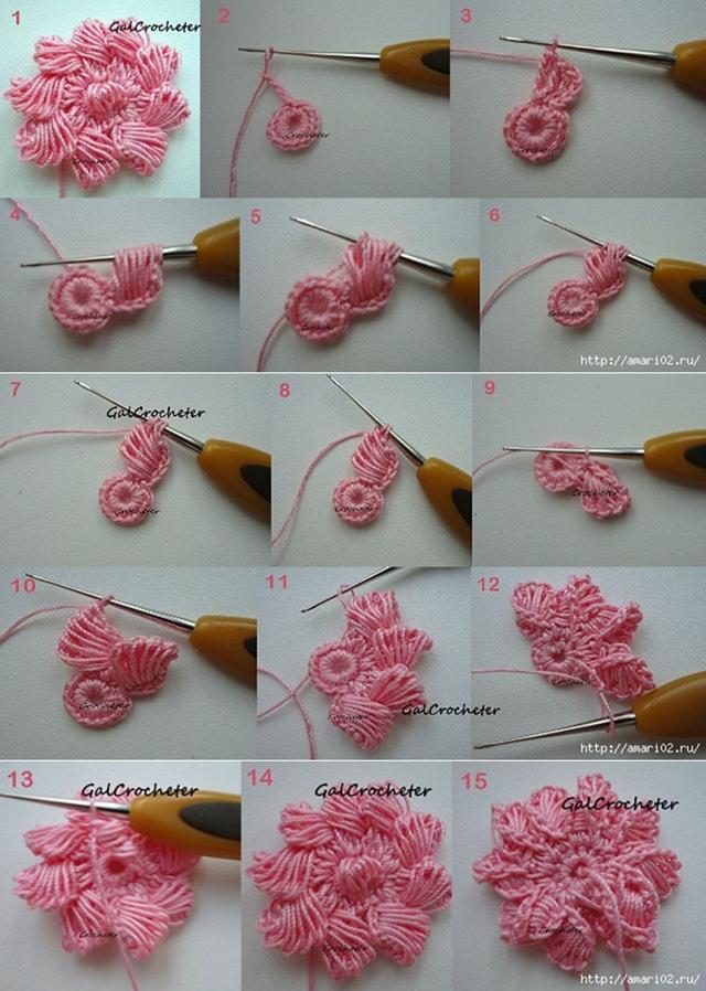 ganchillo tutorial flor