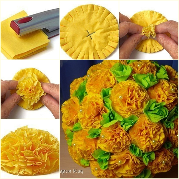 How to diy easiest tissue paper flower ball easy flower ball f mightylinksfo