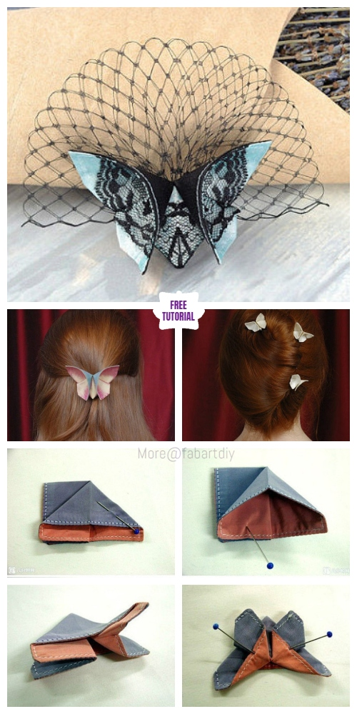 DIY Fabric Origami Butterfly Tutorial