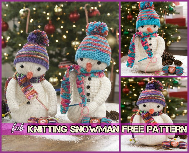 Diy Knitted Winter Hat Snowman Tutorial Free Pattern