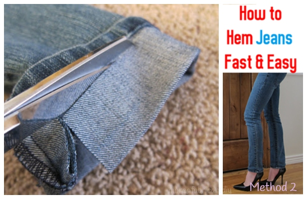 How to Hem Long Jeans Fast and Easy Tutorial (And Keep Original Hem)