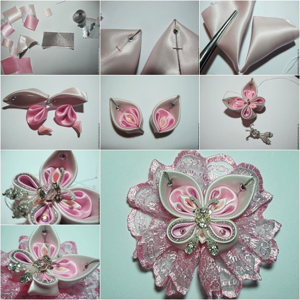 Kanzashi Ribbon Butterfly DIY Tutorial