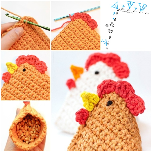 Diy Crochet Chicken Bean Bag Free Patterns