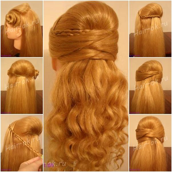 DIY Half up Half down Hairstyle for Face Slimming - DIY Tutorials