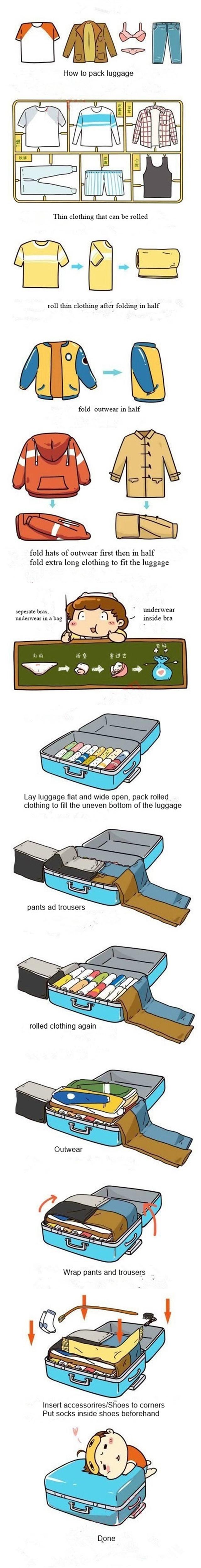 luggage packing tutorial