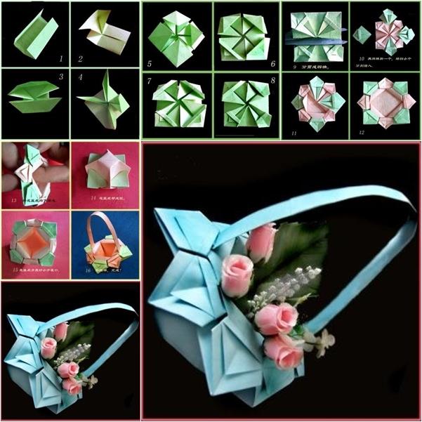 DIY Origami Paper Basket