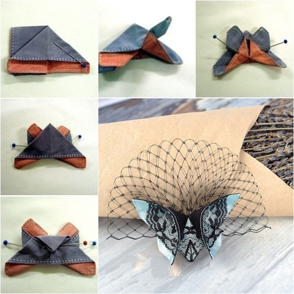 Fabric Origami Butterfly DIY Fabric Origami Butterfly
