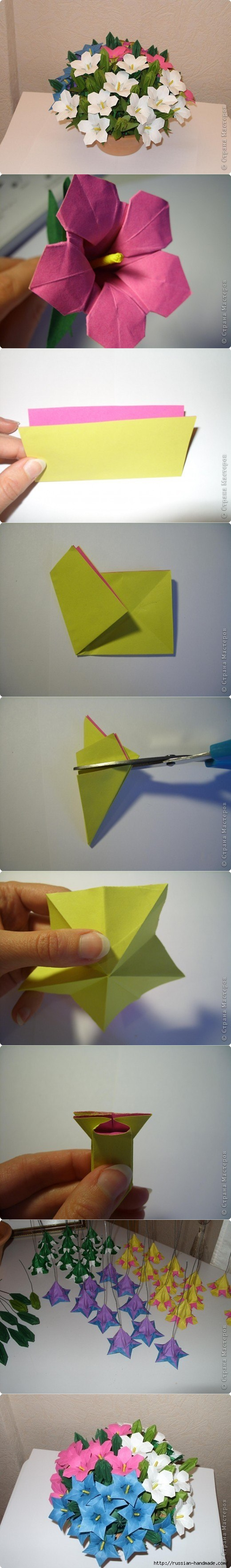 Diy Beautiful Paper Origami Lily Flower Bouquet Fab Art Diy Tutorials