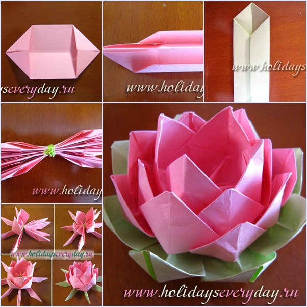 How to diy origami paper lotus flower origami lotus flower f mightylinksfo