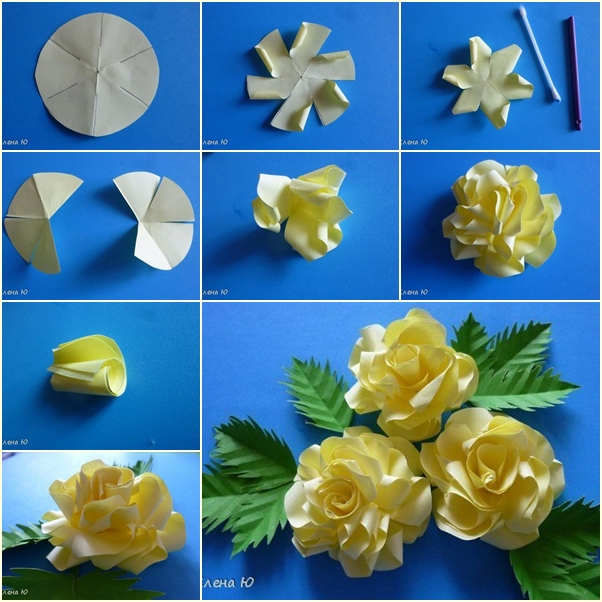 Diy simple paper rose diy simple paper rose flower tutorial mightylinksfo