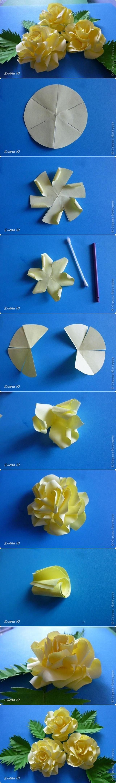 DIY Simple Paper Rose Flower Tutorial