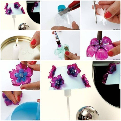 Diy plastic flower from recycled plastic bottles fab art diy for Diy recycled plastic bottles