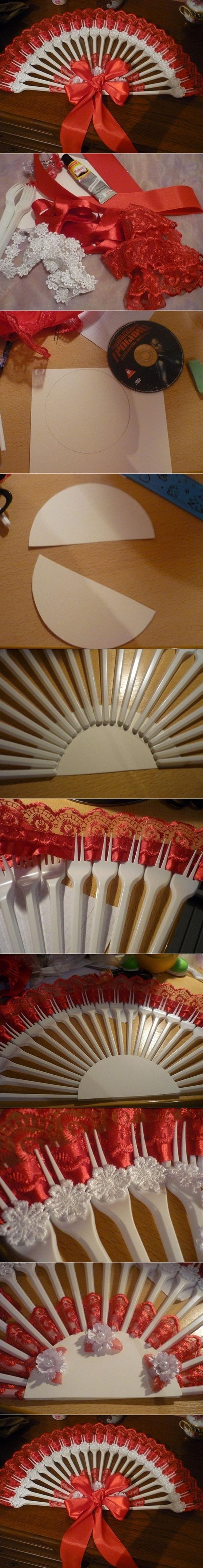 plastic fork fan tutorial