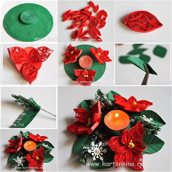DIY 3D Quilling Flower Candle Holder Fab Art